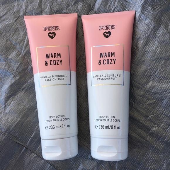 Kết quả hình ảnh cho Victoria's Secret Pink Body Lotion warm and cozy